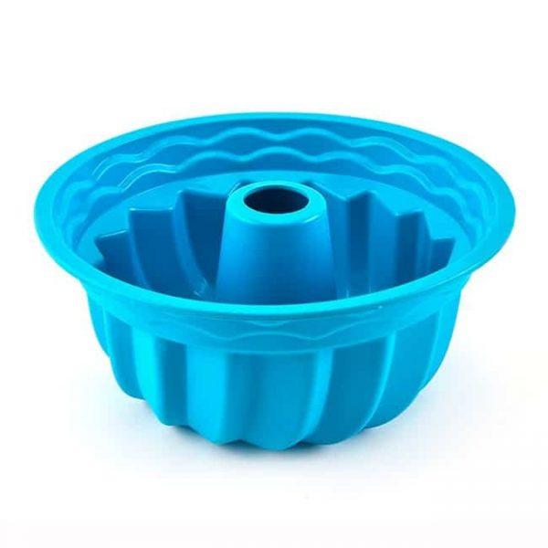 silicone cake pan blue
