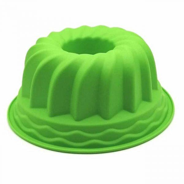silicone cake pan green