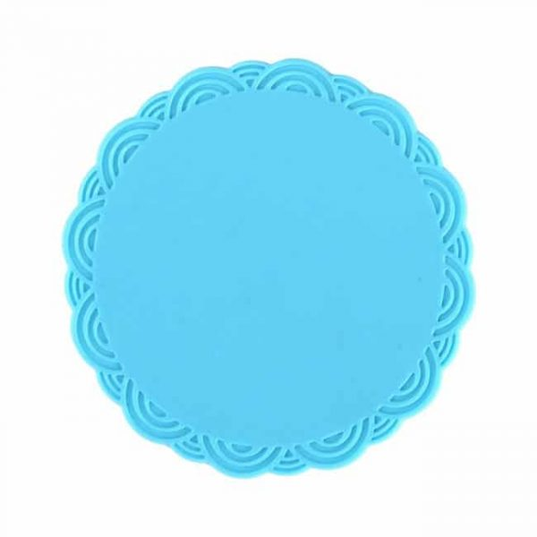 silicone cup coasters blue