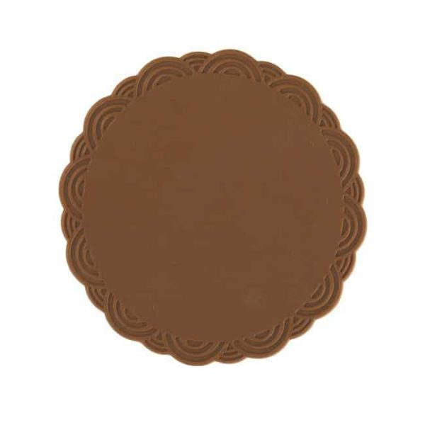 silicone cup coasters brown