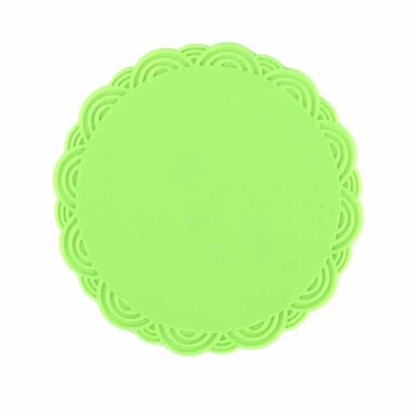 silicone cup coasters green