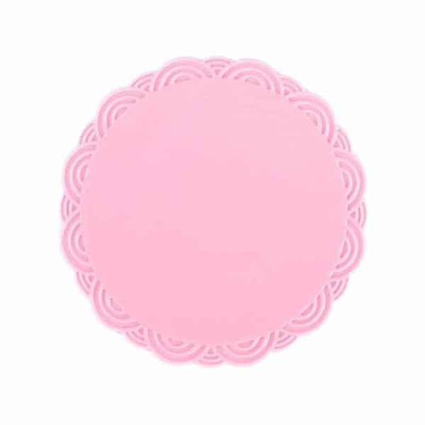 silicone cup coasters pink