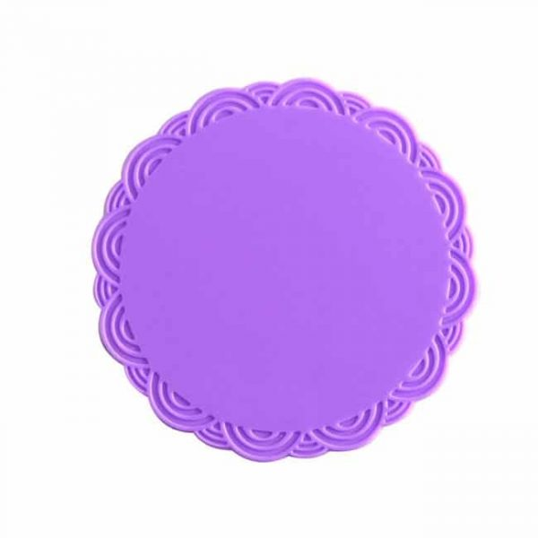 silicone cup coasters purple