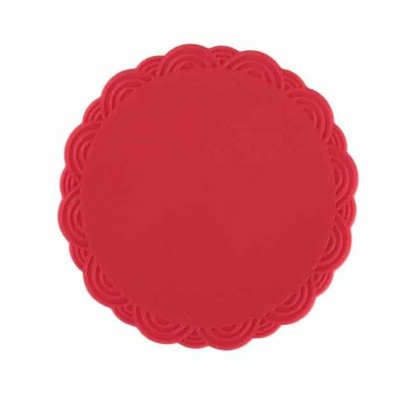 silicone cup coasters red