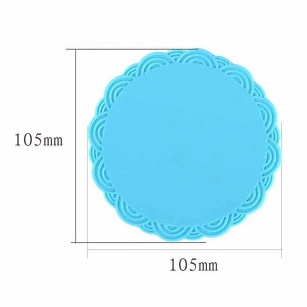 silicone cup coasters size