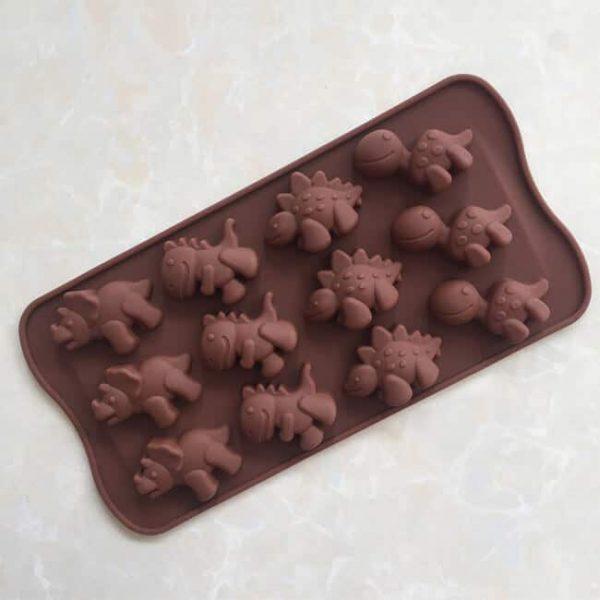 12 cavity Dinosaur FDA silicone candy mold