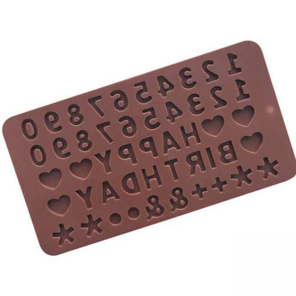 Cross Symbol digit Silicone baking mold