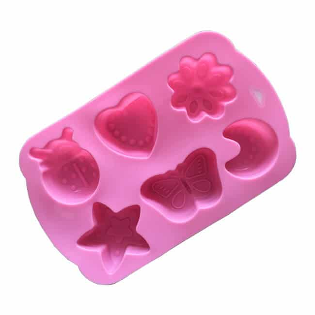 6-cavity star heart insect moon silicone molds