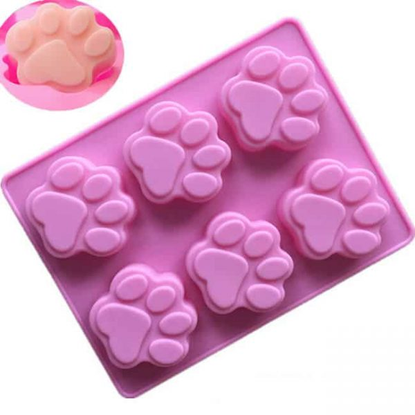 3D cake pans | 6 cavity dog paw custom FDA silicone molds