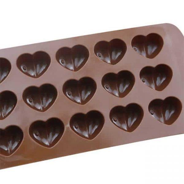 15 cavity Heart-shape silicone baking mold