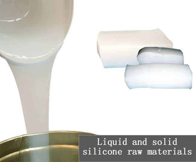 Liquid and solid silicone raw materials