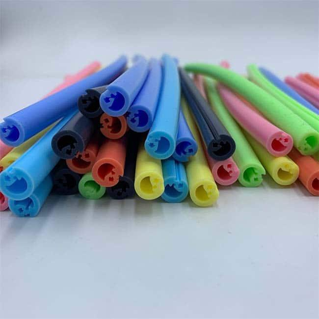 colorful silicone straws