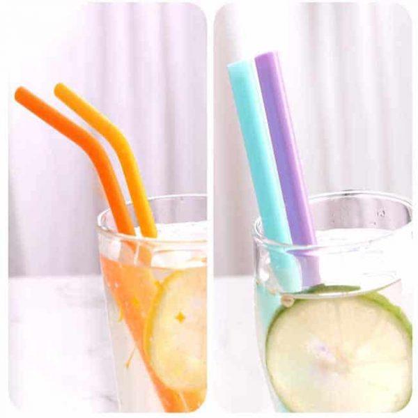 drinking silicone straws