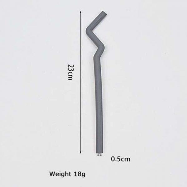silicone straw size