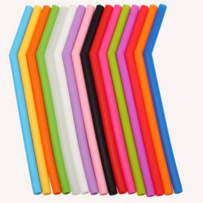 colorful silicone straws