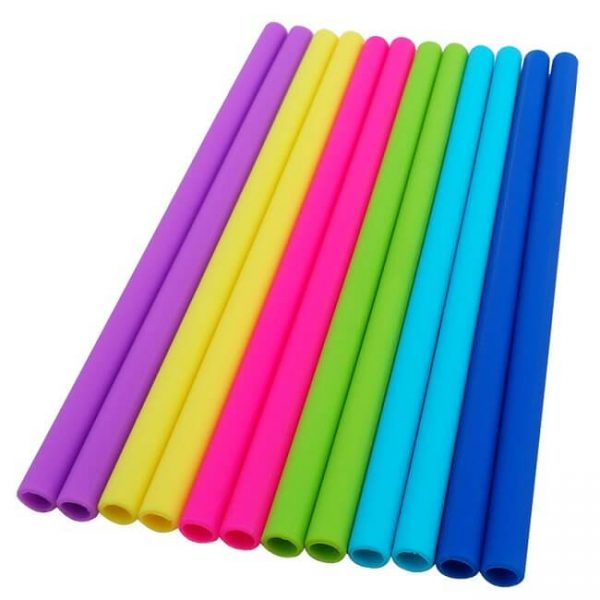straight silicone straw