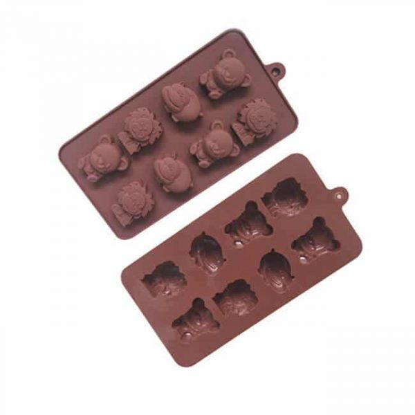 Funny forest theme hippo bear lion molds