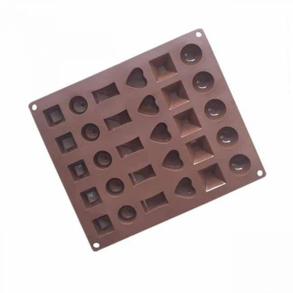30 cavity Chocolate Sugarcraft Geometry molds
