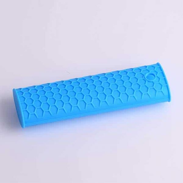 blue silicone hot handle