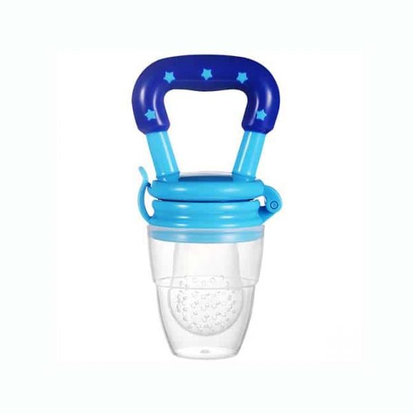 blue silicone pacifier feeder