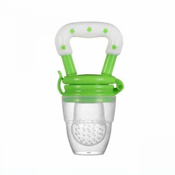 green silicone pacifier feeder