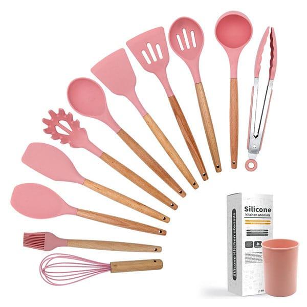 Silicone kitchenware dark pink