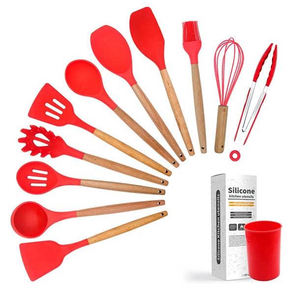 Silicone kitchenware red