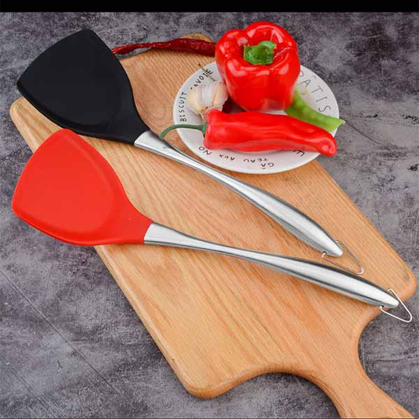 Silicone shovel 430 stainless steel handle