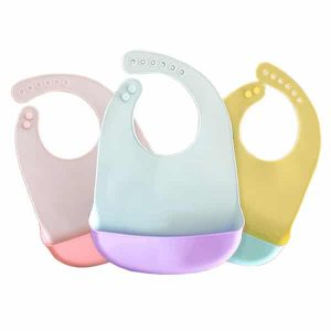 Silicone two color bib