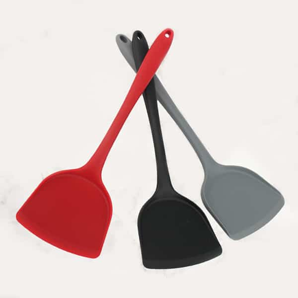 All-in-one cooking and frying silicone spatula