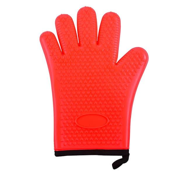 Flexible five-finger plus cotton silicone short gloves (1)
