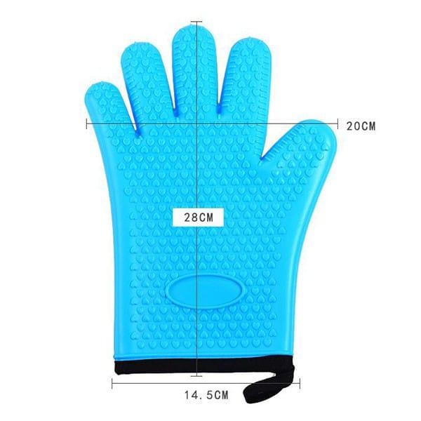 Flexible five-finger plus cotton silicone short gloves (10)