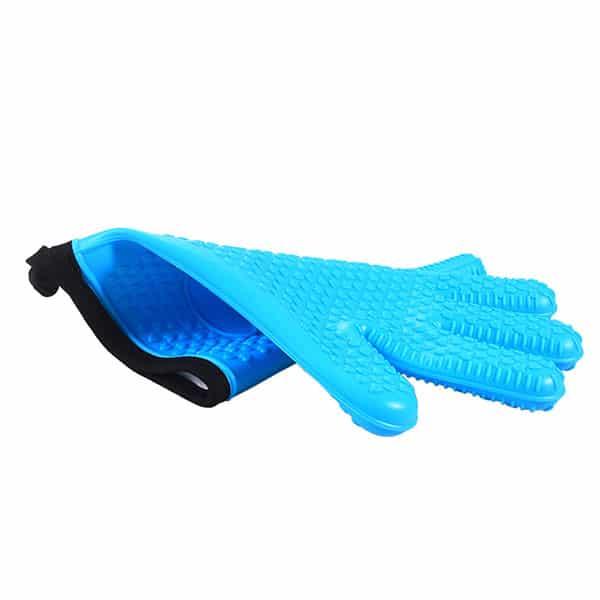 Flexible five-finger plus cotton silicone short gloves (2)