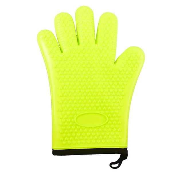 Flexible five-finger plus cotton silicone short gloves (3)