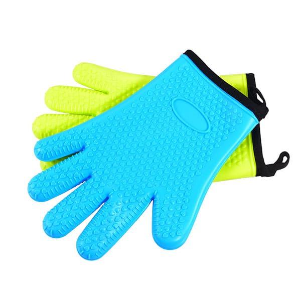 Flexible five-finger plus cotton silicone short gloves (4)