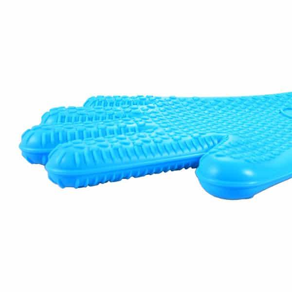 Flexible five-finger plus cotton silicone short gloves (5)
