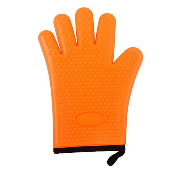 Flexible five-finger plus cotton silicone short gloves (7)