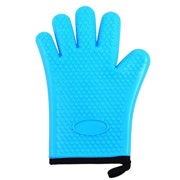 Flexible five-finger plus cotton silicone short gloves (8)