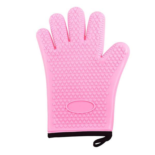 Flexible five-finger plus cotton silicone short gloves (9)