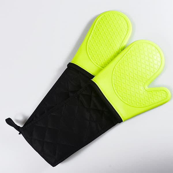 Reusable silicone cooking gloves, (2)