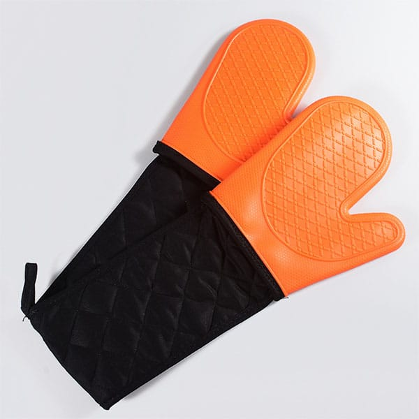 Reusable silicone cooking gloves, (3)