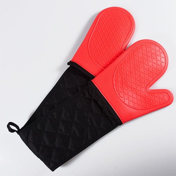 Reusable silicone cooking gloves, (4)