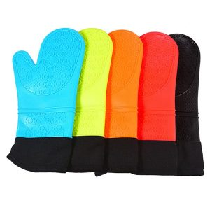 silicone Oven Mitts with Quilted Liner
