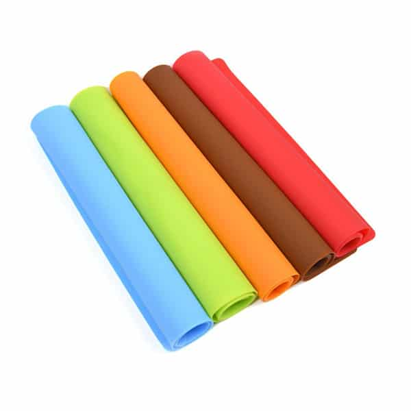 Rectangular silicone placemat