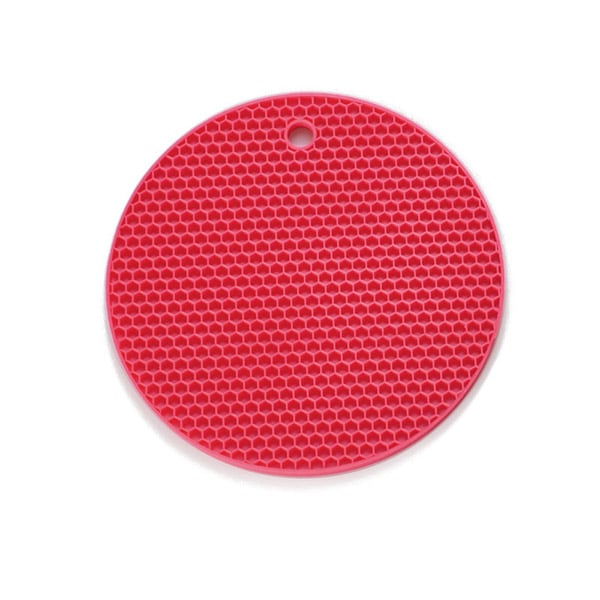 Round silicone tableware drying mat