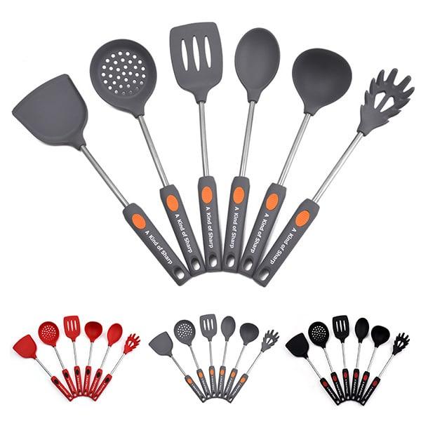 6-piece non-stick anti-scalding silicone kitchenware