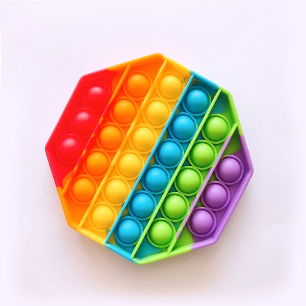 Rainbow octagonal bubble toy