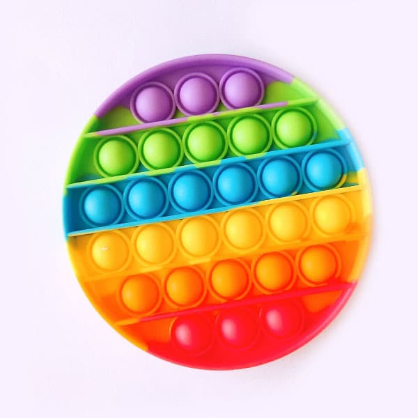 Rainbow round bubble toys