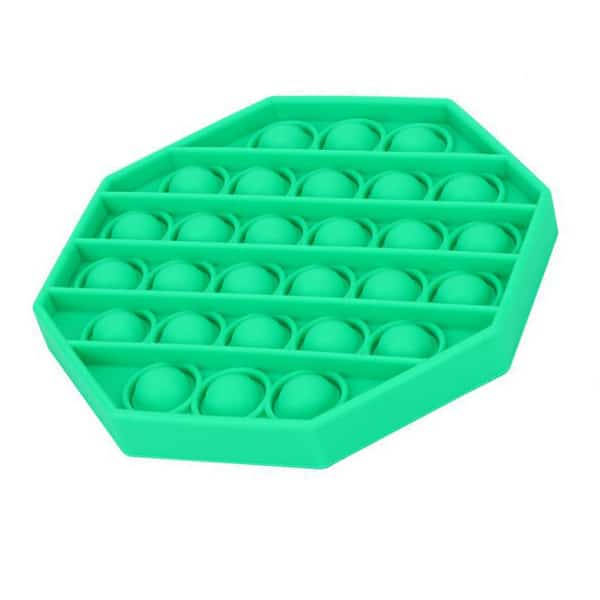 Green octagonal bubble toy