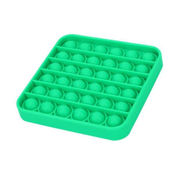 Green square bubble toy